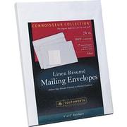 "Southworth 100% Cotton Resume Presentation Envelope, 9"" x 12"", 24 lb., Linen Finish, Blue, 25/Box (RF#9QLN)"