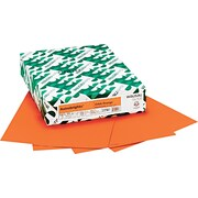 "Wausau Paper  Astrobrights  Colored Card Stock, Orbit Orange , 8 1/2""(W) x 11""(L), 250 Sheets"