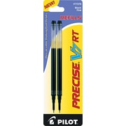 Pilot Precise V7 RT Rolling Ball Refill, Fine Point, Black, 2/Pack (PIL77278)
