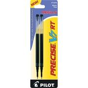 Pilot Precise V7 RT Rolling Ball Refill, Fine Point, Black, 2/Pack (PIL77278)