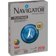 "Navigator Silky Touch Platinum Paper, White, 8 1/2""(W) x 11""(L), 5000/Ctn"