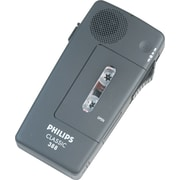 Philips® Pocket Memo 388 Slide Switch Mini Cassette Dictation Recorder, Black