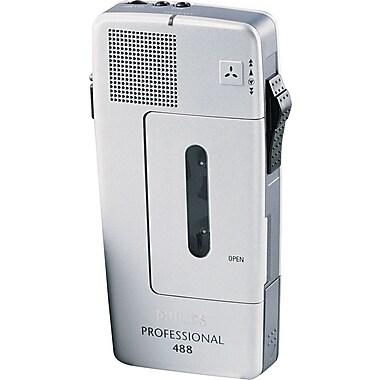 Philips® Pocket Memo 488 Slide Switch Versatile Mini Cassette Dictation Recorder
