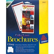 """Avery  Tri-Fold Brochure Paper, White, 8 1/2""""(W) x 11""""(L), 50/Pack"""