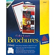 """Avery Color Laser 8.5"""" x 11"""" Cover Paper, 100 Brightness, 50/Pack (5884)"""