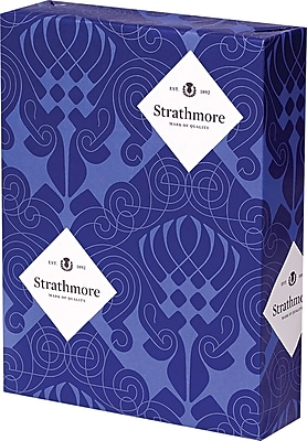 Strathmore Script Business Paper, Bright white, 8 1/2