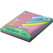 "Pacon ® Array ® Card Stock, 8 1/2""(W) x 11""(L), Assorted Pastel, 100/Pack"
