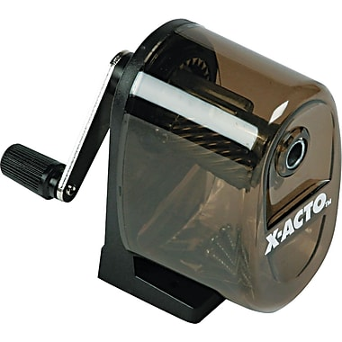 X-ACTO ® Table/Wall-Mount Pencil And Crayon Sharpener, Black/Translucent Smoke