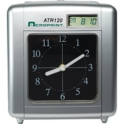 Acroprint ATR120 Time Clock For Weekly / Biweekly Pay Periods, Black / Silver by