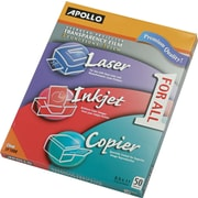 "Apollo® Multipurpose Transparency Film, Clear, 8 1/2""(W) x 11""(H), 50/Box"