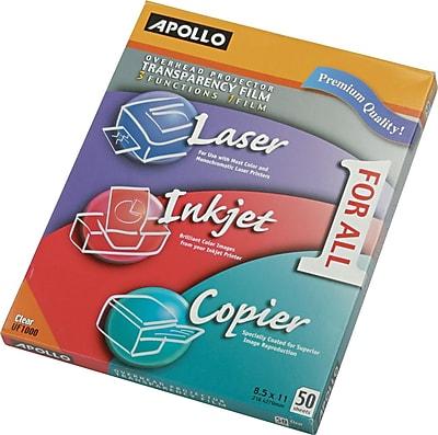 Apollo® Multipurpose Transparency Film, Clear, 8 1/2