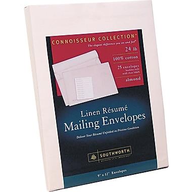 Southworth 100% Cotton Resume Presentation Envelope, Almond, 9