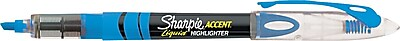 Sharpie Accent® Liquid Pen-Style Highlighters, Chisel Tip, Fluorescent Blue, 12/Pk