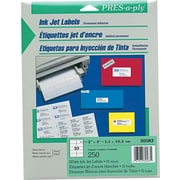 "Avery PRES-a-ply 2"" x 4"" Inkjet Address Labels, White, 25/Pack (30583)"
