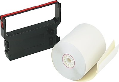 PM Company Impact Printing Carbonless Paper Roll, Assorted, 3