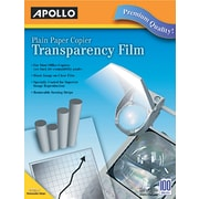 "Apollo® Laser Copier Transparency Film With Removable Sensing Stripe, Clear, 8 1/2""(W) x 11""(H)"