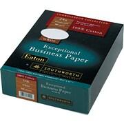 "Southworth ® 100% Cotton Business Paper, White, 8 1/2""(W) x 11""(L), 500/Box"
