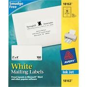 "Avery 2"" x 4"" Inkjet/Laser Shipping Labels, White, 10/Pack (18163 )"
