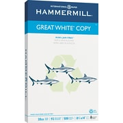 "Hammermill Great White Recycled Copy Paper, LEGAL-size, 20 lb., 8 1/2"" x 14"", 500 Sheets/Ream"