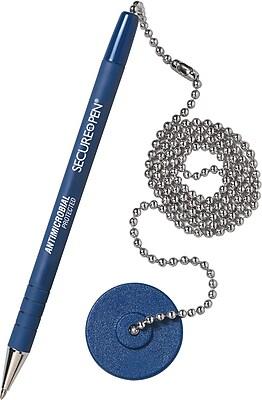 MMF Industries Secure-A-Pen ® Counter Pen, Medium, Blue