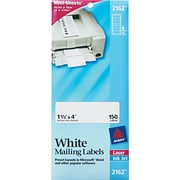 "Avery 1.33"" x 4"" Inkjet/Laser File Folder label, White, 25/Pack (2162)"