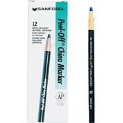 Sharpie® Peel-Off™ China Marker, Blue, Dozen