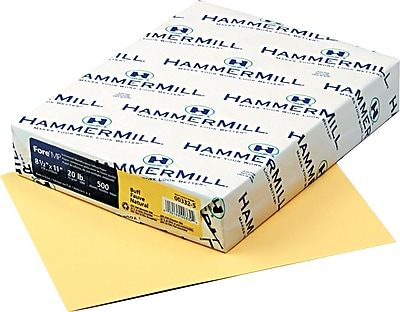 Hammermill® Fore® MP Recycled Color Paper, Buff, 8 1/2
