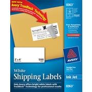 "Avery ® 8363 White Shipping Label With TrueBlock ® Technology, 2""(W) x 4""(L), 500/Box"