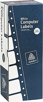 Avery® 4020 White Dot Matrix Printer Address Label, 3