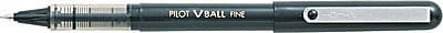 Pilot VBall Rolling Ball Pens, Fine Point, Black, 12/Pack (35112)