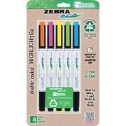 Zebra Eco Zebrite Double-Ended Highlighter, Chisel/Fine Tip, Assorted
