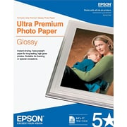 "Epson Ultra Premium Glossy Photo Paper 08-1/2"" x 11"" Bright White 25/Pack (S042182)"