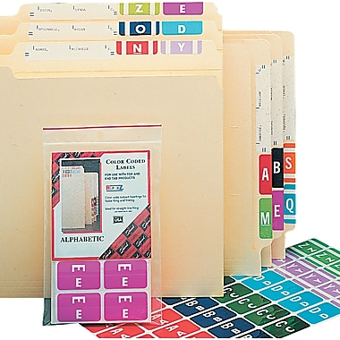 Smead® Alpha-Z Color-Coded Alphabetical Labels Second Letter Package, Set A, Red