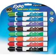 EXPO® Dry Erase Marker, Chisel Tip, Assorted, 16/Set
