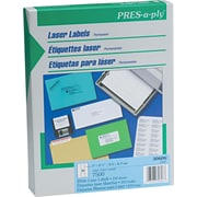"Avery PRES-a-ply 1"" x 2.63"" Laser Address Labels, White, 250/Pack (30606)"