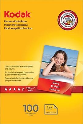 Kodak Premium Glossy Photo Paper, White, 4