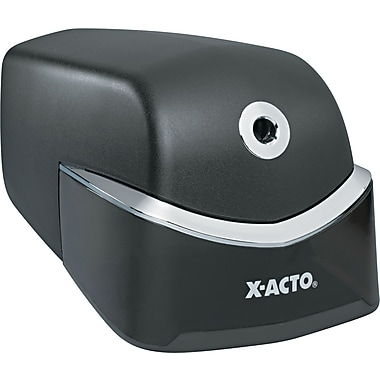 X-ACTO ® Quiet Desktop Electric Pencil And Crayon Sharpener, Black/Silver