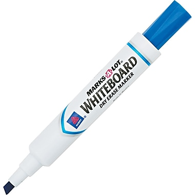 Avery Marks-A-Lot Chisel Point Dry-Erase Marker, Blue, 12/Pack