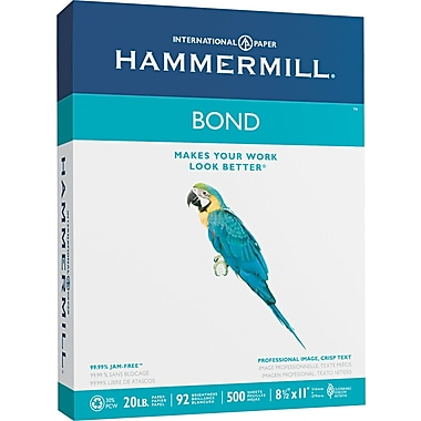 Hammermill ® Multipurpose Bond Paper, White, 8 1/2