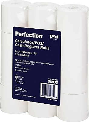 PM Company® Impact Bond Paper Rolls, 2 1/4