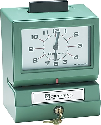 Acroprint® Time Clocks, 125 Series Manual Time Clock, Model 125NR4