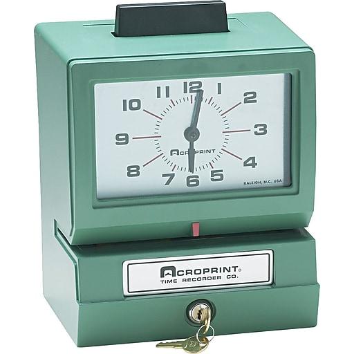 Acroprint® Time Clocks, 125 Series Manual Time Clock, Model 125NR4