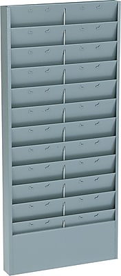 Steel Time Card Racks , 11-Pocket Rack , Gray