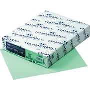 "Hammermill Fore MP Recycled Color Paper 8 1/2""(W) x 11""(L) Green 500/Ream (103366)"