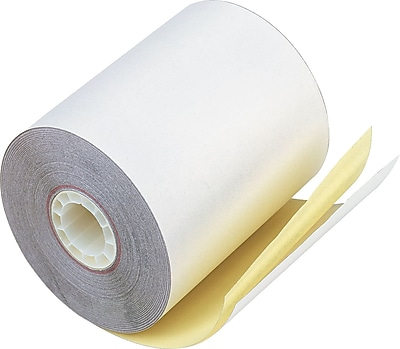 PM Company® Impact Print Carbonless Teller Window/Financial Paper Roll, 3 1/4