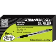 Zebra Jimnie ® Gel Stick Roller Ball Pen, 0.7 mm Medium, Black, 24/Pack