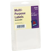 "Avery 3"" x 5"" Inkjet/Laser Removable Print or Write Labels, White, 40/Pack (05450)"