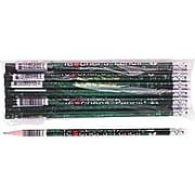 Moon Products Wooden Pencil, No. 2, Soft Lead, Black/Green Barrel, 12/Pack (MPD2122B)