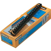 "Fellowes® Plastic Comb Binding, 1""(Dia), 200 Sheets, Black"