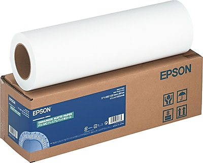 Epson ® Enhanced Photo Paper Roll, Bright White, 17